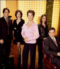 FAMILY LAW - Tony Danza, Dixie Carter, Kathleen Quinlan, Julie Warner & Christopher McDonald. Photo Credit: CBS Worldwide