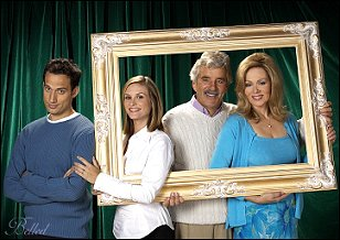 The cast of IN-LAWS -- Elon Gold, Bonnie Somerville, Dennis Farina and Jean Smart