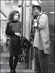 Annie Potts and Meshach Taylor