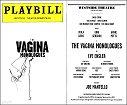 Vagina Monologues Playbill